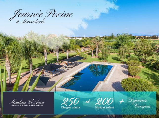 Formule journée piscine à Marrakech